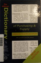 Official Dictionary of Purchasing and Supply: Terminology for Buyers and... - $74.46