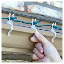 4x 100ct Simple Living Innovations Universal Christmas Light Gutter Clips NEW image 2