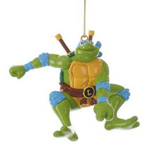 Kurt S. Adler Leonardo Teenage Mutant Ninja Turtles Christmas Tree Ornament NWT