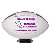 Personalized Custom Class of 2020 Graduation Regulation Football Purple Text - $59.95