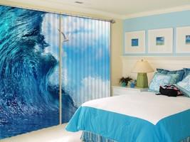 3D Blue Ocean Seabird 121 Blockout Photo Curtain Print Curtains Drapes US Lemon - $177.64+