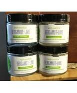 4 - 2 oz Glass Jars SCHMIDT'S Natural Deodorant BERGAMOT + LIME - $39.00
