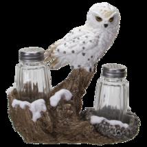 Snowy Owl Perching On Tree Branch Spiritual Realistic Decorative Glass S... - $26.72