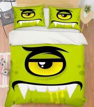 3D Green Demon 26 Bed Pillowcases Quilt Duvet Single Queen King US Lemon - $102.84+