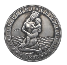 Hobo Nickel 1895 USA Morgan Dollar Sexy Mermaid COIN For Gift - $5.99