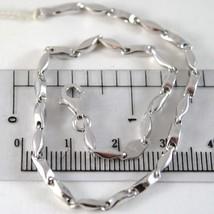 White Gold Bracelet 750 18K, Knitted Tube Crossed, Length 21 CM - $473.83