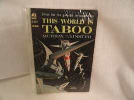 This World Is Taboo Paperback Book Ace D525 Murray Leinster 1961 - $2.49