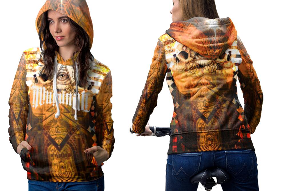 Illuminati ambigram hoodie women