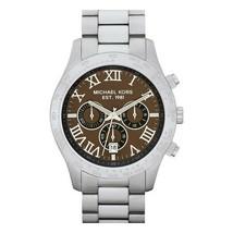 Michael Kors Men's Watch Stainless Steel Bracelet Chronograph Brown Dial MK8213 - $183.00