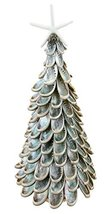 Polished Abalone Shell Tabletop Christmas Tree with Resin Starfish Topper