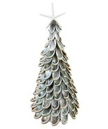 Polished Abalone Shell Tabletop Christmas Tree with Resin Starfish Topper - $60.84