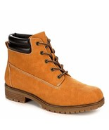 Limelight Womens Brett Faux Leather Lace Up Boot Shoes, Camel, US 5.5 - $49.62