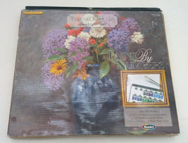 Thomas Kinkade painter of light  lilac bouquet paint by number kit - $24.75