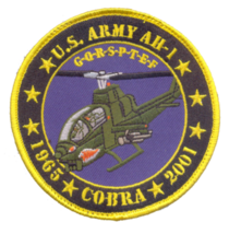 US Army AH-1 Cobra Tribute Patch & 4''  Sticker - $19.79