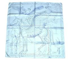 Hermes Scarf Le Pegase d'Hermes  silk 90 cm Light blue Ciel Pegasus Carre - $850.41