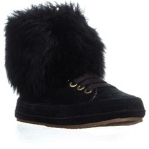 UGG Australia Antoine Fur High Top Sneakers, Black, 6.5 US / 37.5 EU - $115.19