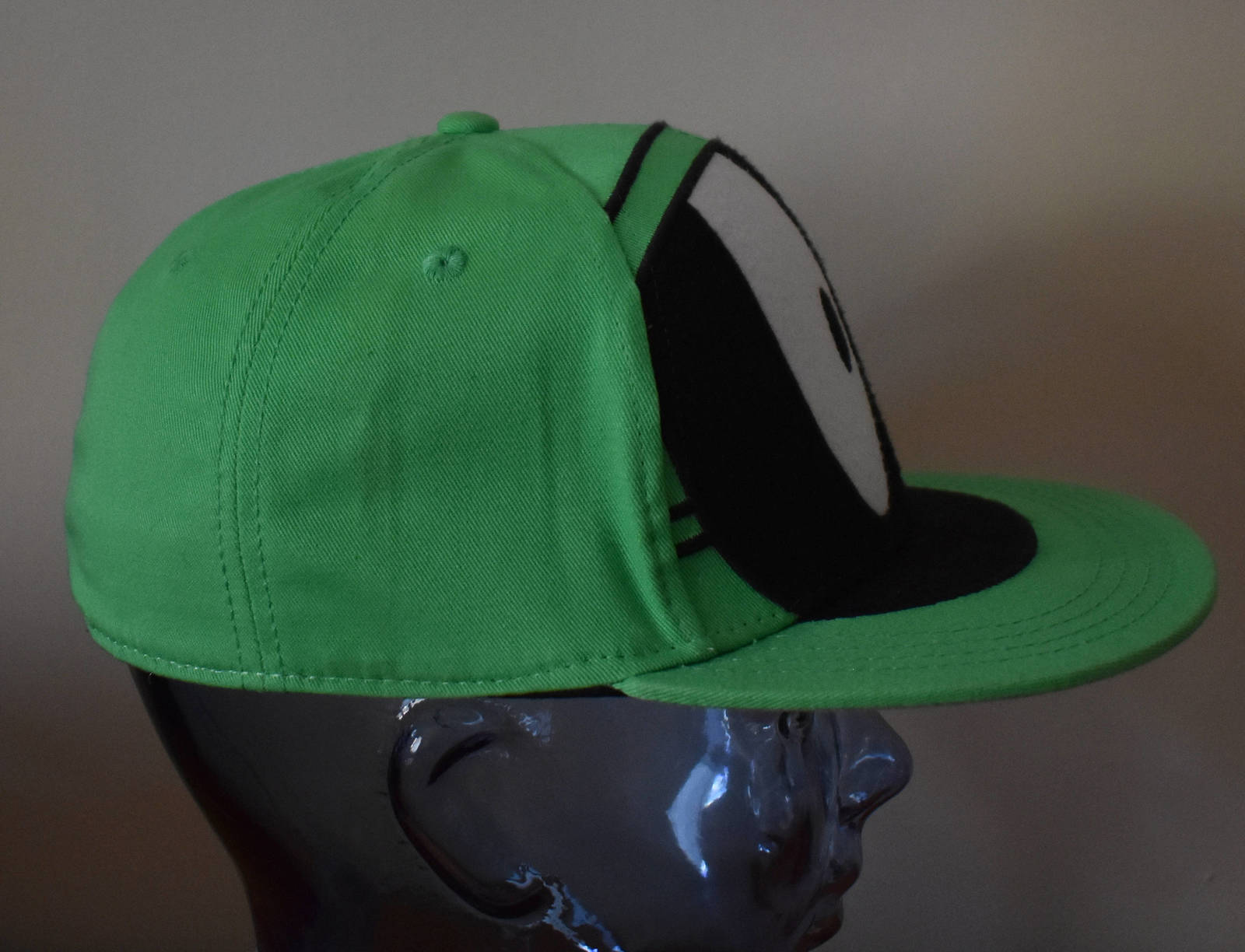 a14cc659bc2b1 Vintage 90s Marvin Martian Hat Green Looney Tunes Fitted Cap 90s Kid Hip Hop