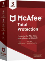 McAfee Total Protection 2021 1 Year 3 Devices (Download) - $24.49
