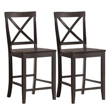 """24"""" 2 Pack Rubber Wood Frame Kitchen Chairs - $225.42"""