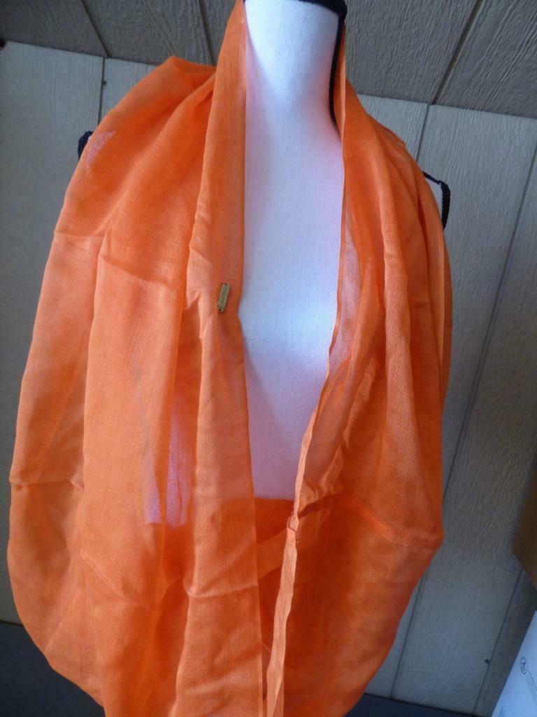 $34.00 Calvin Klein Crepe Infinity Loop Scarf, Apricot