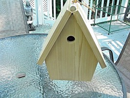 "Handmade,Hanging,Swallow Birdhouse,6""x 6"" floor,has clean-out,escape lad... - $32.99"