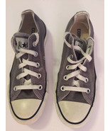 Converse All Star Charcoal Gray Canvas Chuck Taylor Lo Top Sneakers Sz 6... - $24.68