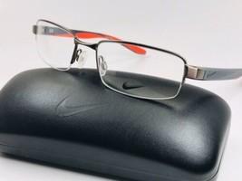 New NIKE 8174 070 Brushed Gunmetal Eyeglasses 54mm with NIKE Case - $98.95