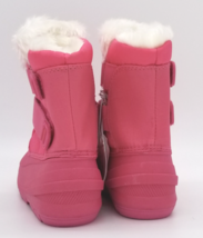 Cat & Jack Toddler Girls Fuchsia Pink Lev Faux Fur Insulted Winter Snow Boots image 4