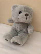 "Commonwealth Lush Plush Teddy Bear Gray Plush Stuffed Animal 1987 10"" - $34.65"