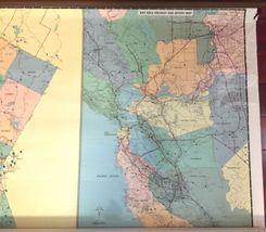 "Vintage 1989 Large Wall Thomas Bros California State Freeway Artery Map 68""x54"" image 3"