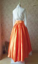 Women High Low Layered Long Tutu Skirt Party Prom Skirt Orange Hi-lo Tulle Skirt image 6
