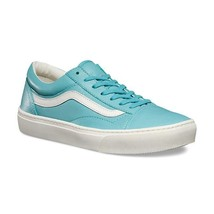 VANS Old Skool Cup (Leather) Aqua Sea Blue UltraCush Sneakers Womens Size 10 - $64.95