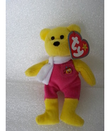 McDonalds 2004 Ty Birdie The Bear No 3 10th Anniversary Canada Yellow So... - $3.99