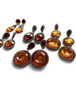 Brown Earrings, Brown Amber Earrings, Round Earrings, Teardrop Earrings,... - $25.00+