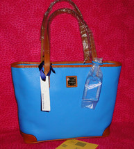 Dooney & Bourke Charleston Pebble Leather Shopper Aegean Blue