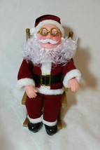 Vintage  Musical Rocking Chair Santa Claus Holiday Decoration Christmas - $35.41