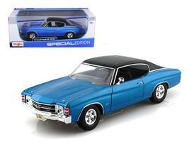 1971 Chevrolet Chevelle SS 454 Blue 1/18 Diecast Model Car by Maisto - $49.95