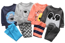 StylesILove Lovely Animal Character Print Long Sleeve Cotton Top and Pan... - $17.99