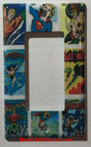 DC Superhero Comics USPS Stamps Light Switch Power wall Cover Plate Home decor image 3