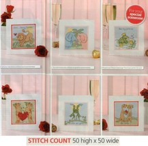 ANIMAL VALENTINE'S CARDS  CROSS STITCH PATTERN    EQ - ESQ - $7.38