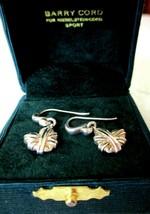 Barry Kieselstein Cord 1998 Sterling Silver Mended Heart Dangle Earrings BKC Box - £267.15 GBP