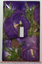 Flash Purple Flower Light Switch Power Outlet wall Cover Plate & more Home Decor