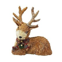BOXED CUTE GOLD CHRISTMAS REINDEER RUDOLPH STAG GLITTER DECORATION ORNAMENT - $24.93