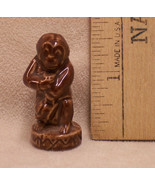 Wade England Red Rose Tea Teapot Monkey Figurine Circus Dark Brown - $7.91