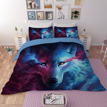 3D Blood Sweat & Tears Wolf Quilt Cover Bedding Set Soft Animal Duvet Co... - $34.74+