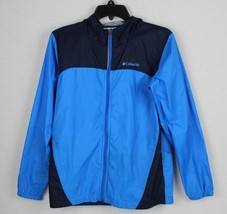 Columbia youth kids rain jacket zip up hoodie windbreaker Nylon size L - $17.98