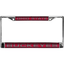 ohio state buckeyes osu ncaa college laser chrome license plate frame us... - $37.99