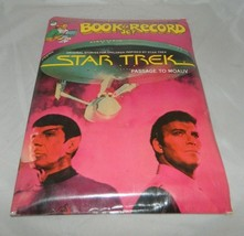 VTG 1979 Star Trek Passage to Moauv Book & 45rpm Record Set New Sealed Peter Pan - $14.85