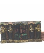 """Hand-carved India Colorful Decorative Wooden Wall Hanging Panel Plaque 5.6"""" - $445.50"""