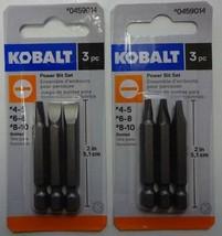 """Kobalt 1873545 3pc Slotted Screw Bit Tip Set 2"""" Long 2 - Packs - $3.47"""